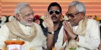 Nitish Kumar supporting Modi