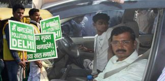 arvind-kejriwal-in-car-delhi-pollution