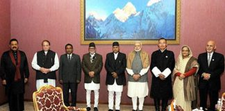 PM Modi with saarc countries heads