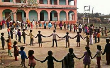 bihar human chain practice making india