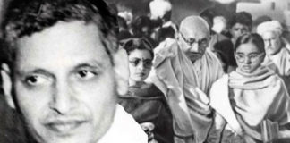 gandhi with girls and nathuram godse-making india