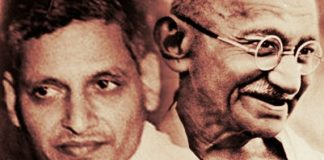 nathuram godse and gandhi poem making india